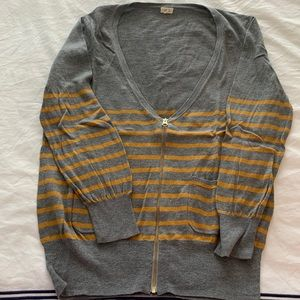 JCrew zip up cardigan size S